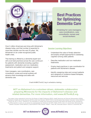 Dementia Training Best Practices: Simplify and Optimize Dementia Care