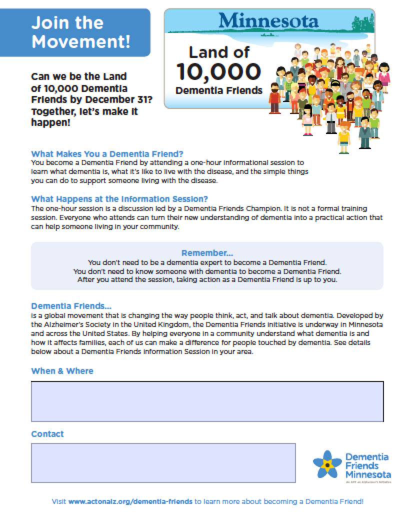 Dementia Friends Challenge Advertisement
